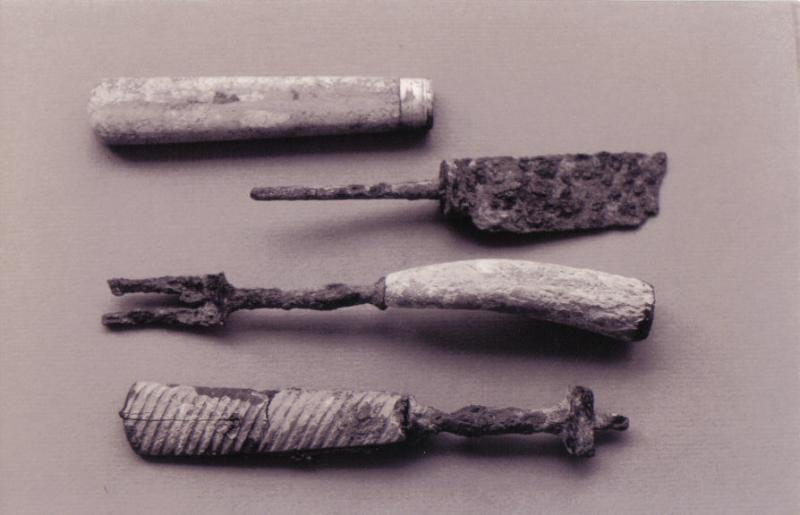 Utensils excavated from the Naval Cottages.