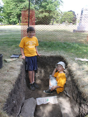 2011 excavations at the Warden's Residence.