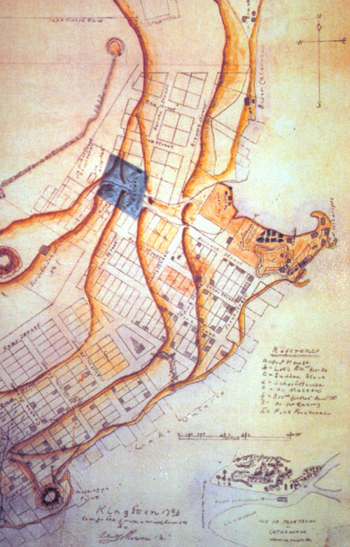 Map of Kingston, 1796.