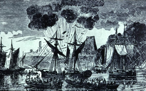The Siege of Fort Frontenac by British Forces in 1758, by J. Walker.