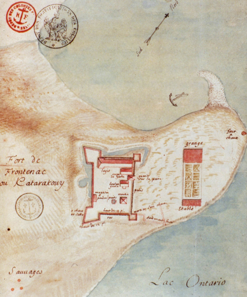 1685 Sketch map of Fort Frontenac.
