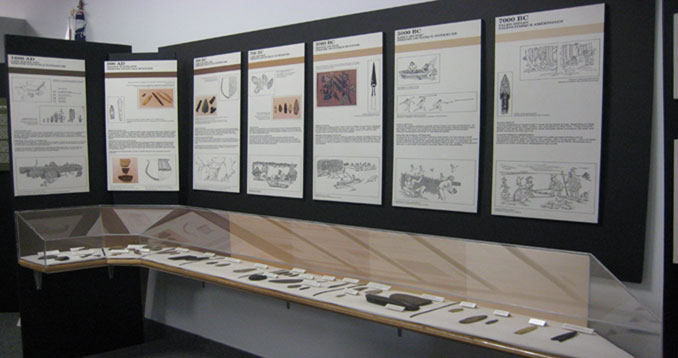 Photo of the pre-history section of KAC Interpretive Centre