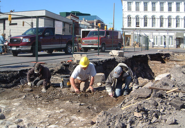 Excavations at Market Square.